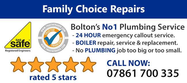 Plumbing offer from family choice boiler repairs